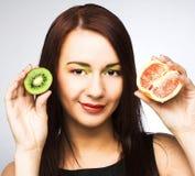 fruits женщина Стоковые Изображения