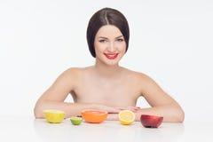 fruits женщина Стоковое фото RF
