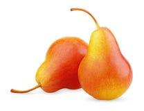 fruits желтый цвет 2 груши красный зрелый Стоковое Фото