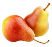 fruits желтый цвет 2 груши красный зрелый Стоковое Изображение