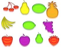 fruits лоснисто Стоковое Фото