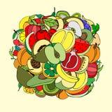 fruits много иллюстрация вектора