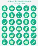 fruits овощи икон Стоковая Фотография RF