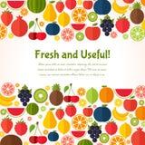 Fruits предпосылка Красочный шаблон для варить, Стоковые Изображения