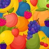 Fruits предпосылка Красочный шаблон для варить, Стоковая Фотография