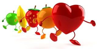 fruits сердце Стоковые Изображения