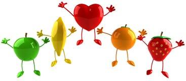 fruits сердце Стоковые Изображения RF