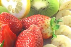 Fruits. A closeup of various fruits Stock Images