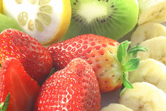 Fruits. A plate of fresh fruit Royalty Free Stock Photos