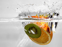 Fruits 11. Fruits in water Royalty Free Stock Image