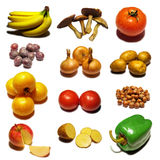 Fruits. Collection mosaic on white background Royalty Free Stock Images
