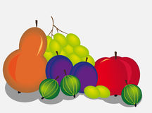 Fruits. Still life of ripe juicy fruit Royalty Free Stock Photography