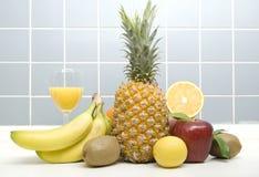 Fruits. A Lot Of Fruits On Closeup Royalty Free Stock Photos