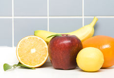 Fruits. A Lot Of Fruits in Kitchen Royalty Free Stock Image