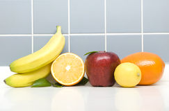 Fruits. A Lot Of Fruits in Kitchen Royalty Free Stock Photos