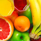 Fruits. Some tropical fruits with glasses Stock Photos