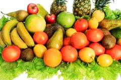 Fruits. Fresh Vegetables, Fruits and other foodstuffs. Shot in a studio Stock Photo