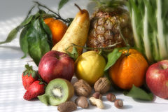 Fruits. Still life about fruits composition Royalty Free Stock Photo