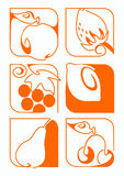 Fruits. My selection of fruit. The fruit I like to draw and eat Stock Photo