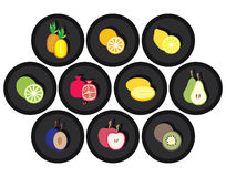 Fruits. The images of fruits. a vector illustration Royalty Free Stock Images
