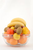 Fruits. In a glass bowl Stock Photography