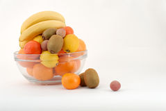 Fruits. In a glass bowl Royalty Free Stock Images