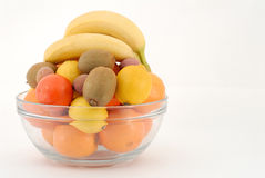 Fruits. In a glass bowl Royalty Free Stock Photo