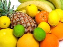 Fruits. Close-up view of some tropical fruits stock images