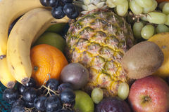 Fruits. Assorted fresh healthy nutricious fruits in a fruitbasket Stock Photo