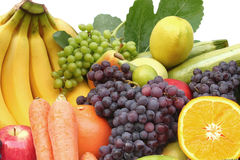 Fruits. Fruit and vegetable isolated in white Royalty Free Stock Images