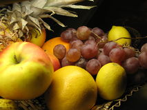 Fruits. Exotic Fruits in the basket Royalty Free Stock Image