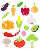 Fruits. A set of fruit and vegetables vector icons Royalty Free Stock Image