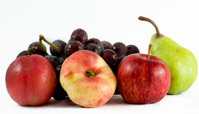 Fruits. Closeup and isolated against white background royalty free stock images