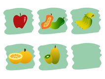 Fruits. Illustration of many kinds of fresh fruits Stock Photo