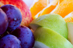 Fruits. Some kinds of served fruits on a dish Stock Photo