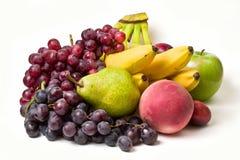 Fruits. Miscellaneous fresh fruits isolated on white background Royalty Free Stock Image