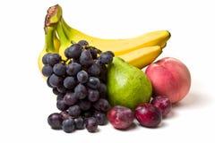 Fruits. Miscellaneous fresh fruits isolated on white background Stock Images