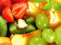 Fruits. Detail of fruit salad royalty free stock image