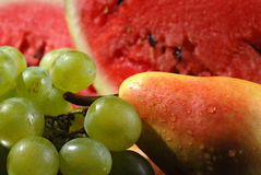 Fruits. Close up of fresh fruits isolated royalty free stock photo