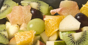 Fruits. Several fruits, cutted, several small pieces stock photography