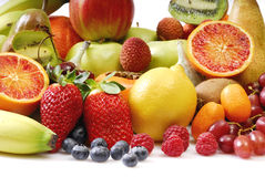 Fruits. Composition in front of a white background Royalty Free Stock Images