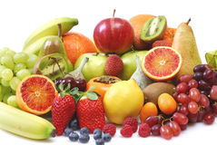 Fruits. Composition in front of a white background Royalty Free Stock Image