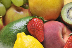 Fruits. Closeup of fresh colorful fruits stock photo
