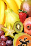 Fruits. Variety of fresh colorful fruits royalty free stock photos