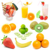 Fruits. Set  of fresh fruits over white background Stock Photo