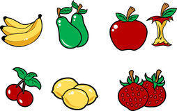 Fruits. Illustration isolated over white background Stock Photography