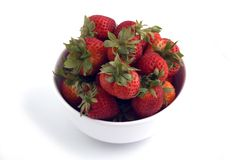 Fruits. A Bowl of Strawberries Stock Photo