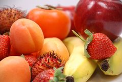 Fruits. A Mixed Fresh Healthy Fruits Royalty Free Stock Images