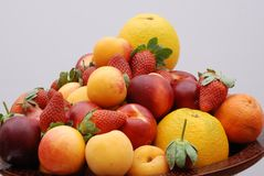 Fruits. A Mixed Fresh Healthy Fruits Stock Image
