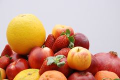 Fruits. A Mixed Fresh Healthy Fruits Royalty Free Stock Image
